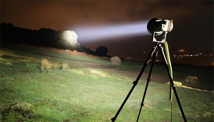 S200 Searchlight illuminating the 'Cow & Calf Rocks' Ilkley