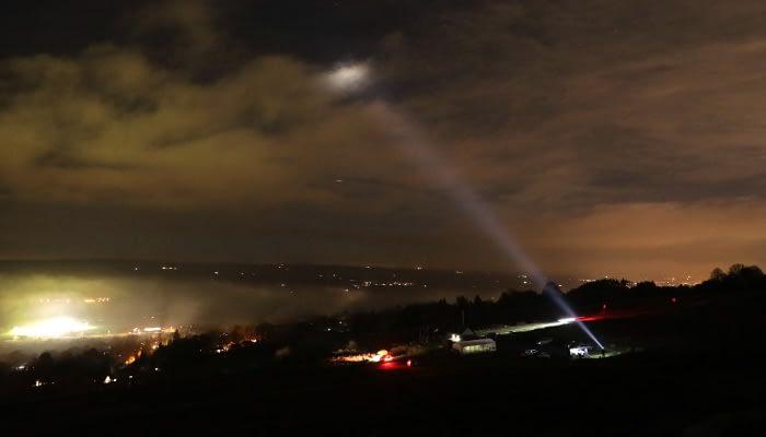 S200 Searchlight illuminating clouds