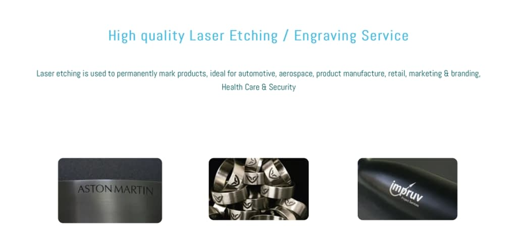 Laser Etching Service in Yorkshire